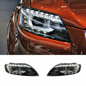 For Audi Q7 LED Headlights Projector HID LED DRL 2007-2015 Replace OEM Halogen