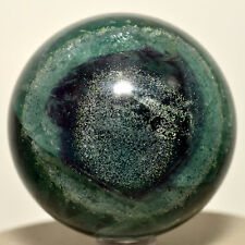 "2.3"" Natural Blue / Green Fluorite Sphere Gemstone Crystal Mineral Ball - China"