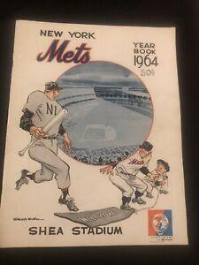 1964 New York METS PROGRAM! Casey Stengel Cover, etc Mr. MET! NO RESERVE!!