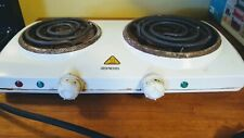 Portable Electric Dual 2 Burner Hot Plate Stove Top,Double Burner Stove- Vintage