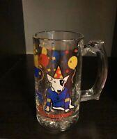 Vintage * SPUDS MACKENZIE * Bud Light 12oz. Glass Mug/s Budweiser Anheuser Busch