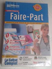 COFFRET 30 FAIRE-PART + ENVELOPPES + LOGICIEL WINDOWS VISTA, XP NEUF Mariage