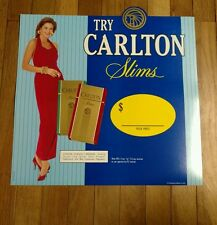 Carlton Slims Cigarettes Large Cardboard Display Piece