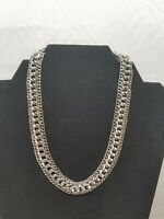 Vintage Sarah Coventry Silver Tone Multi-Chain Links Choker Necklace Linked 13""