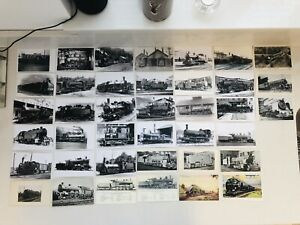 Job Lot 39 Vintage Postcard Steam Train Locomotive Railway Real Photo Postcards