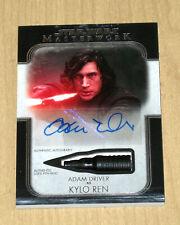 2020 Topps Star Wars Masterwork autograph auto used Pen relic Adam Driver 1/1