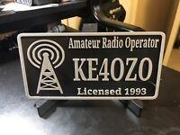 3D Printed Plaque, Callsign, Custom, Ham Radio, Amateur Radio, Gift