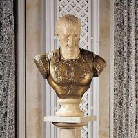 "27.5"" Ancient Roman Emperor Julius Caesar Handmade Statue Sculpture Bust"