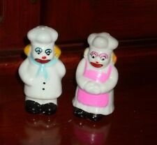 CHEF & COOK Clowns Creepy Painted Face SALT and PEPPER SHAKERS