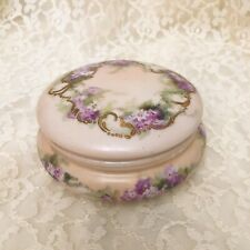Limoges Hand Painted Covered Powder Jar/bureau Box