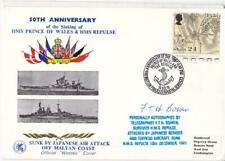 1991 Prince of Wales & Repulse Sinkings 50th Anniv Cover - Signed Telegraphist