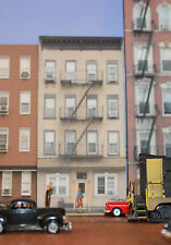 #332 O scale background building flat   ROWHOUSE #1  * FREE SHIPPING*