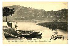 CPA 73 Savoie Aix-les-Bains-Lac du Bourget Petit Port Col et Dent du chat bateau