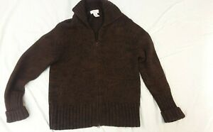 Brixton Mens Wool Cardigan BrownSweater Button Size L