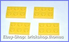 Lego 4 x Platte (2 x 3) - 3021 gelb - Yellow Plate Plates - NEU / NEW