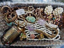 Scarab Vintage To Now Jewelry Lot Necklaces Bracelets Earrings Lot Snuff Bottle