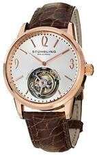 IMPRESSIVE STUHRLING 542 CUVETTE LIMITED TOURBILLON SAPPHIRE CRYSTAL MENS WATCH