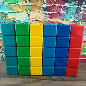 5 Vintage Chubs Stackable Building Block Lego Storage Containers - Choose Color
