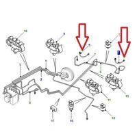 Land Rover Freelander 1 1996-2006 Rear Brake Pipes SGB000810, SGB000820