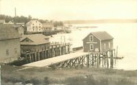 Coastal Fishing Village market C-1910 RPPC Photo Postcard 861