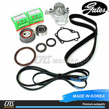 Gates HTD Timing Belt Kit V-Belt & Water Pump Fits 02-08 Hyundai Elantra Tiburon