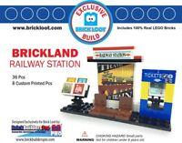 Exclusive Brick Loot Railway Train Station LEGO bricks set - 8 Custom Printed
