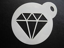 Laser cut small diamond crystal design,cake, cookie,craft &face painting stencil