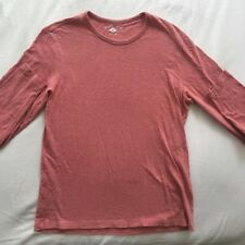 G36 Country Road Mens Size S Small 100% Cotton Pink Solid L/S T-Shirt