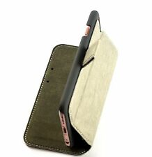 iPhone 5 SE Case Rock Cover Leather Case  Folio Book Ivory White