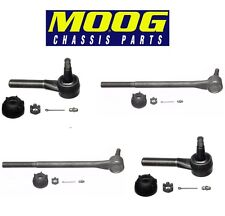For Chevrolet Biscayne Impala Set of 2 Front Inner+Outer Tie Rod Ends Moog
