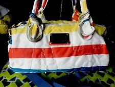 MARC JACOBS  Multi-Color Logo Nylon Convertible Satchel Crossbody Duffle Bag