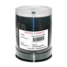 NEW 100 Taiyo Yuden JVC 4.7GB Silver Top DVD+R 8X Blank Media Disc FREE SHIPPING