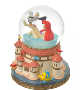 Ariel & Scuttle  The Little Mermaid Snow globe Disney store Japan free ship