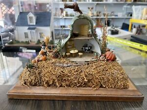 Dollhouse Miniature Fall Scene 1:48 Great Attention To Detail