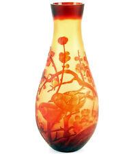ART NOUVEAU GLASS ART CHERRY BLOSSOM VASE 37½cm NEUAUFLAGE JUGENDSTIL GLAS VASE