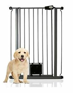 Gate with Lockable Cat Flap Pressure Fitted Gate 75cm - 148.7cm Stair