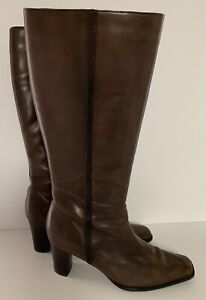 A.N.A. Tall Leather Heeled Fashion Boots Size 8M - Very Soft Leather