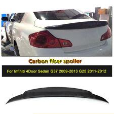 For Infiniti Sedan G37 Carbon Fiber Rear Trunk Spoiler Wing Lip Refit 2009-2013
