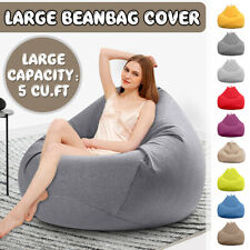 Large Bean Bag Chairs Sofa Cover Indoor Lazy Lounger For Adults No Filling