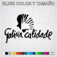 Vinilo adhesivo GALICIA CALIDADE, pegatina, logo, coche, moto, calidad, decal.