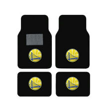 New NBA Golden State Warriors Car Truck Front Rear Back Carpet Floor Mats Set