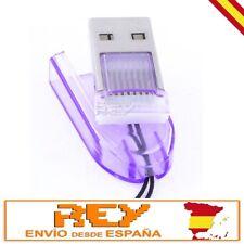"""Adaptador Lector Tarjeta MICRO SD a USB Portátil LILA """"Envío DESDE ESPAÑA""""  v135"""