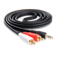3.5mm To 2 RCA Audio Adapter Cable Cord For Vizio S4251w-B4 C4 Sound Bar Speaker