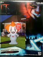 5 Ft Pennywise IT Halloween Creepy Clown Airblown LED Inflatable Gemmy NEW