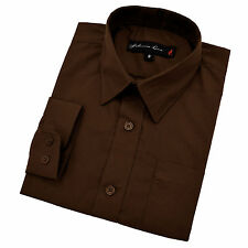 Johnnie Lene Little Boy's Long Sleeves Cotton Blend Solid Dress Shirt #JL32