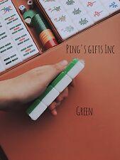 GREEN Chinese&American 144 Tiles Mah Jong Set With Portable Mahjong Box FAST SHP