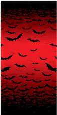 Halloween Wall DECORATION Frightful Fangs Vampires Bats Giant Room Roll FREE P&P