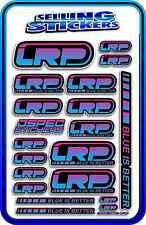 LRP ELECTRIC ESC MOTOR BATTERY LIPO STICKER DECALS RC CAR DRIFT R/C BLUE PINK B
