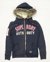 Superdry Womens Size M Cotton Blend Blue Hoodie (Regular)
