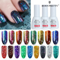BORN PRETTY 10ml Chameleon UV Gel Nail Polish Red Glitter Nail Art Gel Varnish